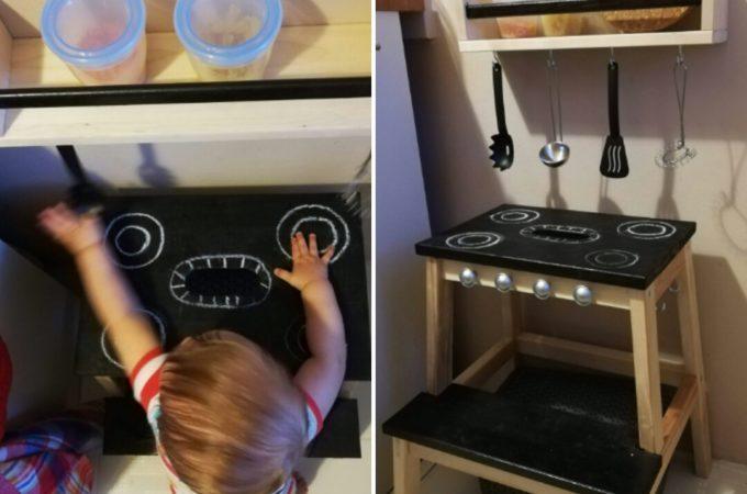 DIY: Prosta kuchnia dla dzieci