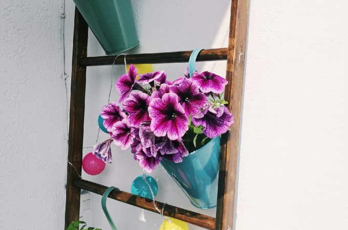 DIY stojak na kwiaty