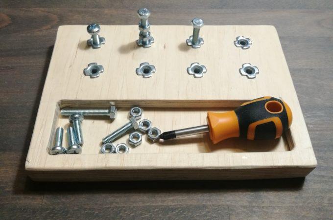 DIY Drewniany zestaw majsterkowicza w stylu Montessori