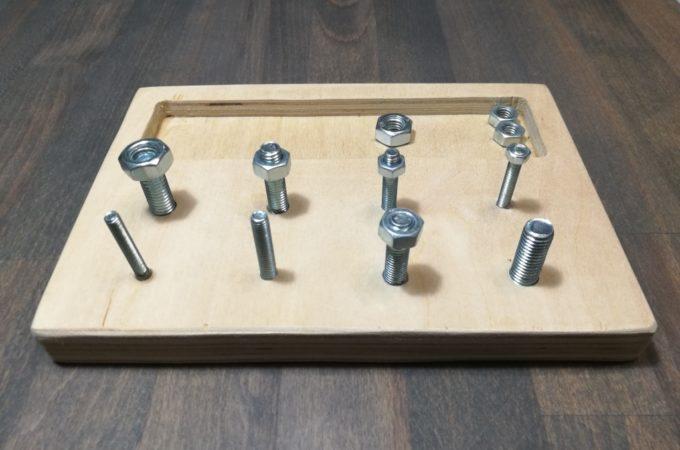 DIY Drewniany zestaw majsterkowicza w stylu Montessori – wersja druga