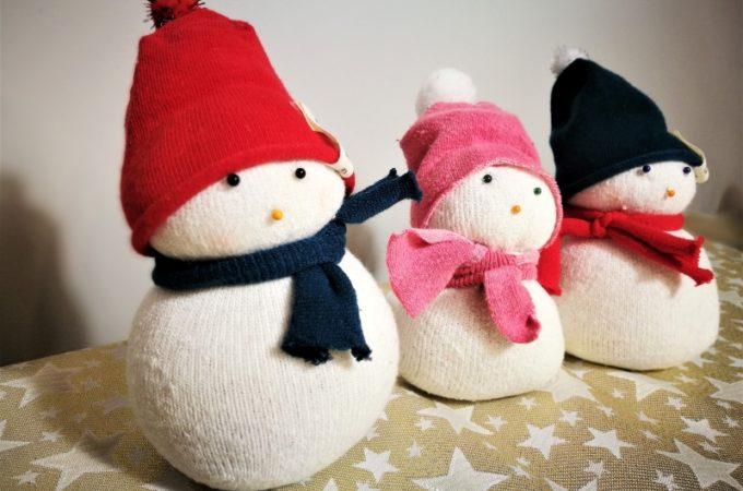DIY #świąteczneaktywności Bałwanek ze skarpety i ryżu