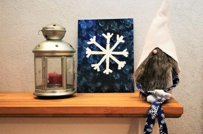 DIY #prostezabawy Zimowy obrazek z taśmą malarską