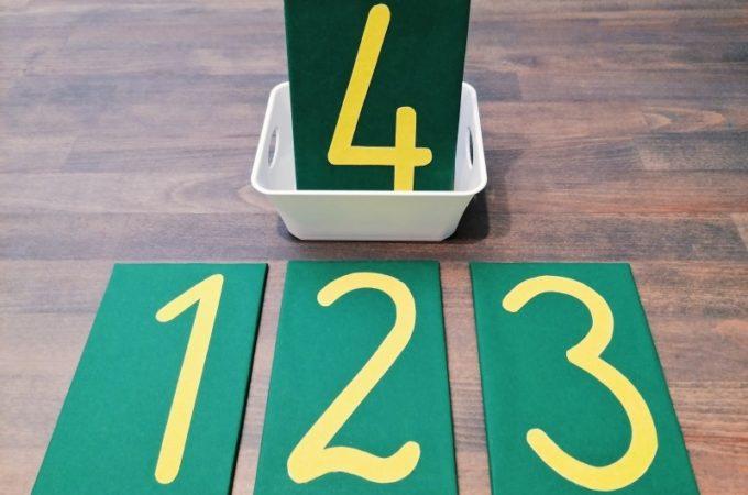 DIY szorstkie cyfry Montessori (darmowy PDF do pobrania)