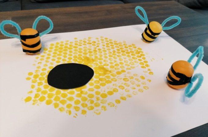 #domoweprzedszkole Gdzie mieszkają pszczoły? Praca plastyczna ul