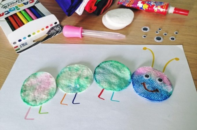 #domoweprzedszkole Tęczowa gąsienica i eksperymenty z kolorami
