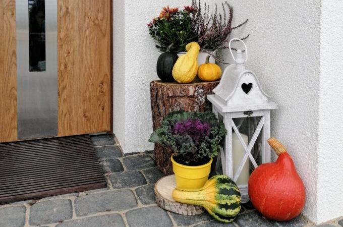 Fall porch czyli jesienna aranżacja drzwi wejściowych