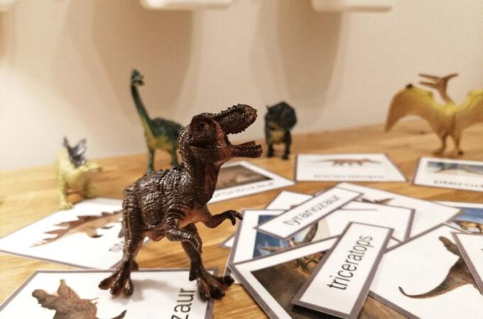 Karty trójdzielne dinozaury do pobrania