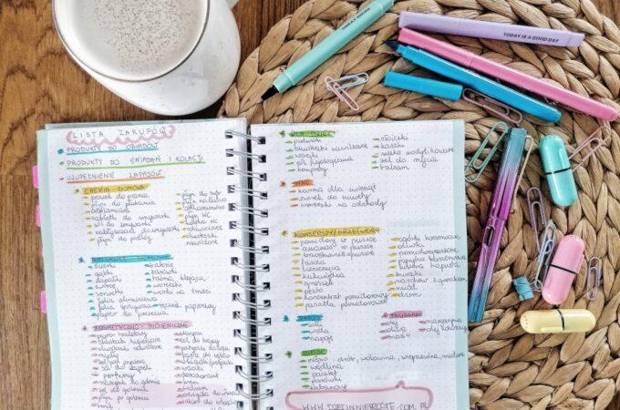 Tygodniowa lista zakupów – nasz sposób na organizację. PDF do pobrania