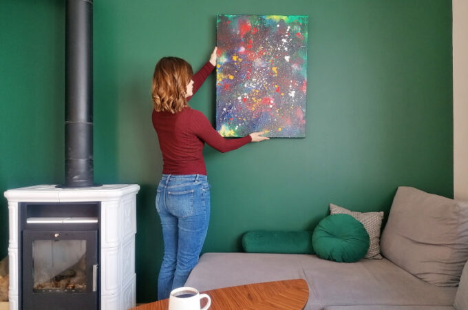 DIY namaluj z dzieckiem obraz. Sztuka nowoczesna dla najmłodszych