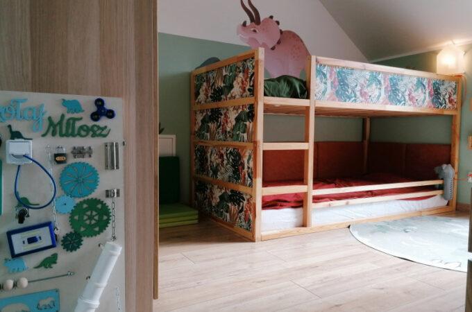 Łóżko Ikea Kura dla rodzeństwa – metamorfoza pokoju dziecięcego